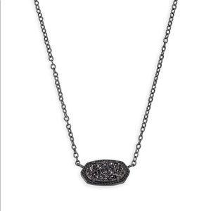 Kendra Scott Elisa Pendant necklace in black